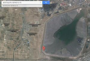 Der Giftsee bei Baotou, China auf (c) Google Maps. https://goo.gl/maps/M4XT8